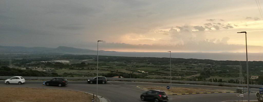 Sardinien - Badesi - Panoramablick auf Schwemmebene und Mittelmeer