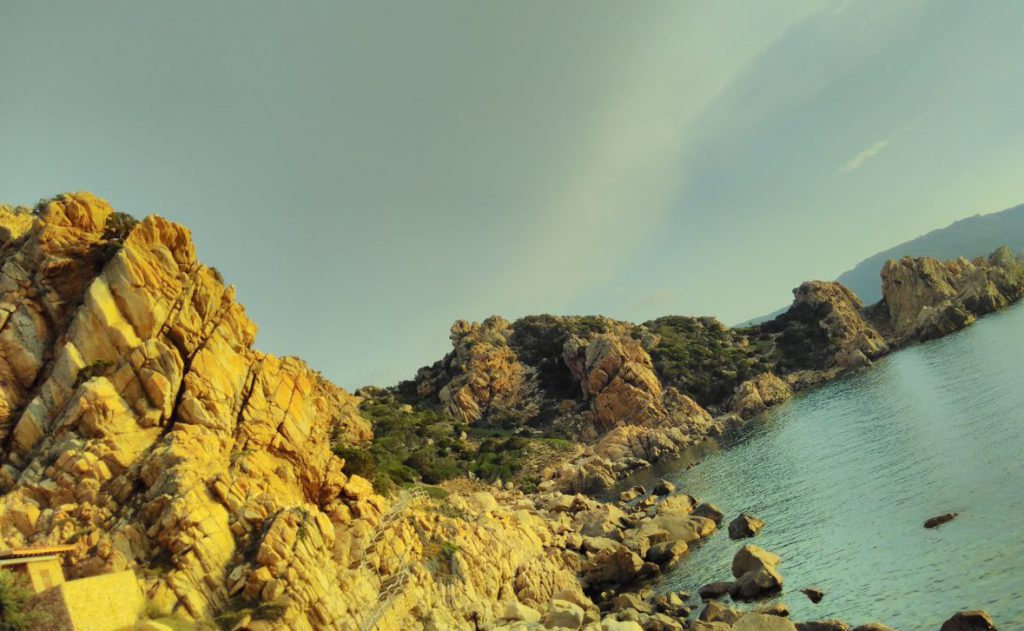 Sardinien-Costa Paradiso - Fussweg entlang Granitküste