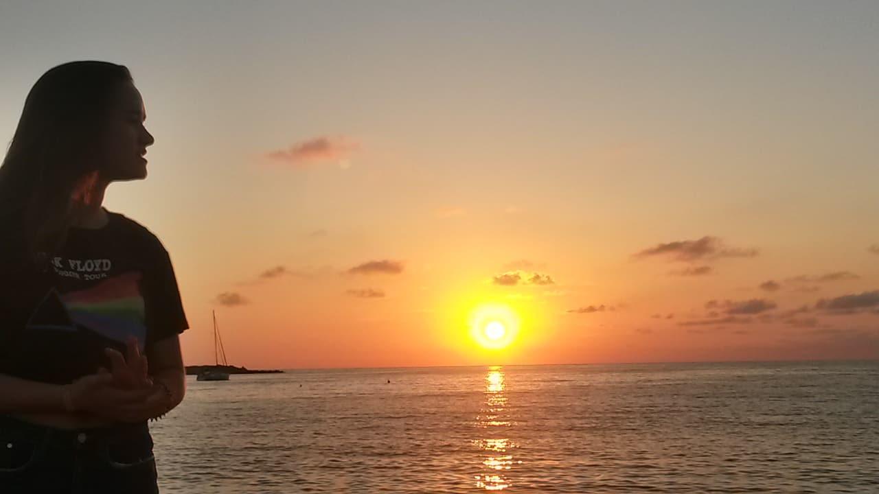 Sardinien - Sonnenuntergang in der Bucht La Marinedda in der Naehe von Badesi