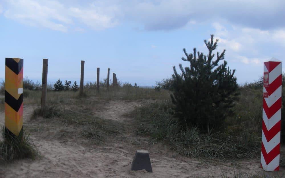 Grenzpfosten Deutschland Polen Ostsee