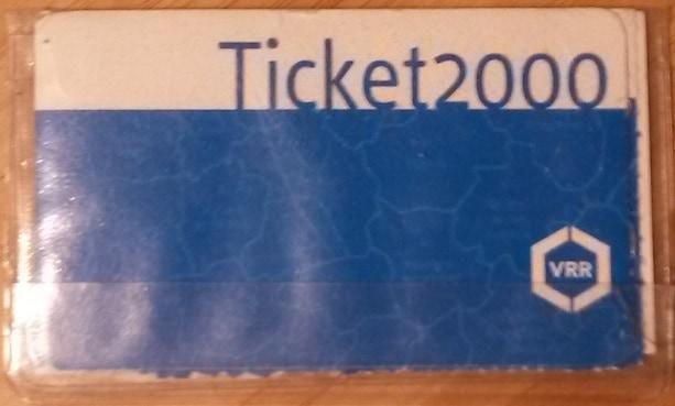 Monatsfahrarte Ticket 2000 des VRR