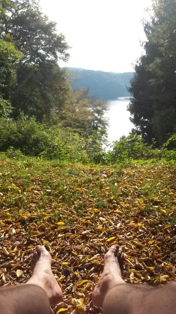 Rastplatz mit Ausblick auf den Wahnbachsee