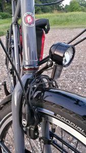 Reiserad Patria Terra mit SON Edellux Halogenlampe und Magura HS33 Hydraulikfelgenbremse