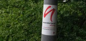 Schild Entdecker-Schleife Romantisches Düsseltal