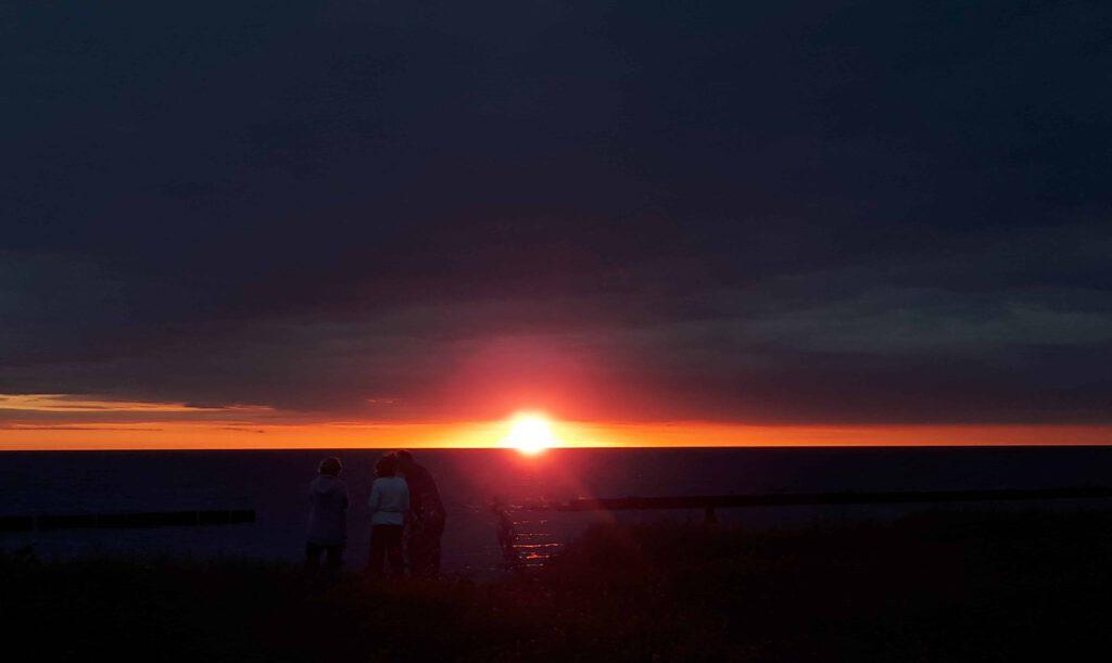 Sonnenuntergang_Campingplatz_Dranske